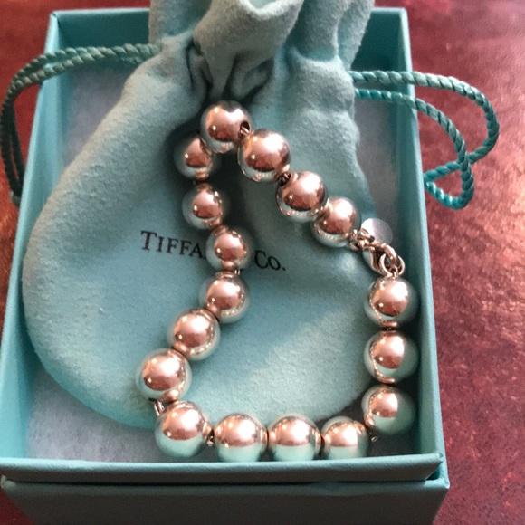 Tiffany & Co. Jewelry - Tiffany & Co. Sterling Silver Beaded Bracelet Med